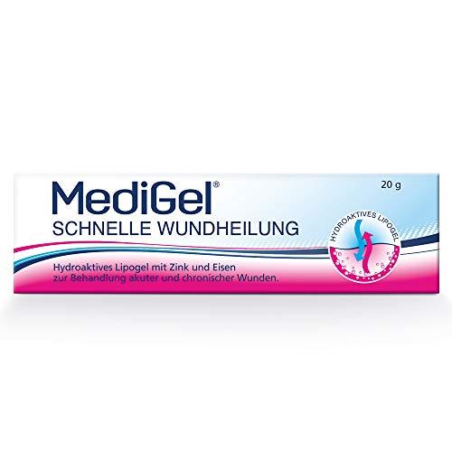 MediGel Schnelle Wundheilung – Hydroaktives Lipogel mit Zink & Eisen für alle Wunden im Alltag – Moderne feuchte Wundheilung – 3x20g