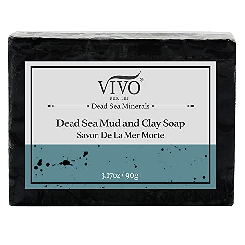 Dead Sea Mud Soap, For Bath & Body with Dead Sea Mud from Israel by Vivo Per Lei -Infuses Skin with Dead Sea Minerals   Pure & Genuine - Satisfaction