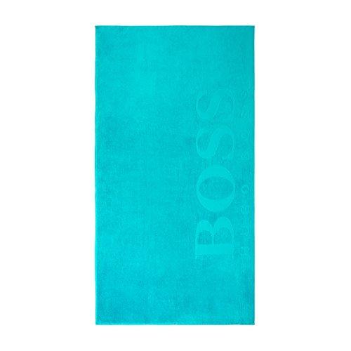 Hugo Boss Carved Beach Towel, Lagoon 100x180cm