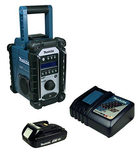 Makita DMR 110 Baustellenradio mit Mini-USB mit Akku 1,5 Ah + Ladegerät