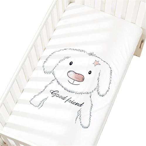 Baby Spannbettlaken Spannbetttuch Kinderbettlaken Baumwolle dekorative Muster Babybett 60x120cm/70x140cm