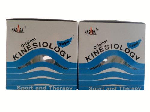 2 x Blau Nasara® Original Kinesiology Kinesiologie Tape 5cmx5m