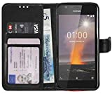 Gadget Giant Case for Nokia 1 Premium PU Leather Wallet