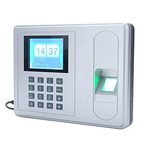 Zeitmaschine Bio-Fingerabdruck Fingerabdruck-Zeiterfassung Mitarbeiter Sign-in Recorder 2,4-Zoll-Bildschirm Zeiterfassung Für Büro, Schule