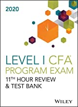 Wileys Level I CFA Program 11th Hour Guide + Test Bank 2020