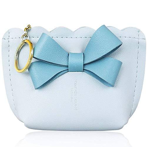 LLMZ Portafoglio da Donna in Pelle PU 1pcs Mini Bowknot Design Zaino PU Porta Monete Stile Trendy