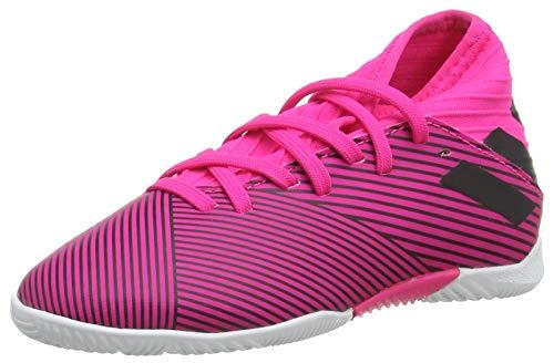 Adidas Nemeziz 19.3 IN J, Botas de fútbol Unisex niño, Multicolor (Shock Pink/Core Black/Shock Pink 000), 28 EU