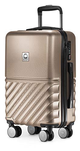 HAUPTSTADTKOFFER - Boxi - Handgepäck 55 x 35 x 20 cm Hartschalen-Koffer Trolley Rollkoffer Reisekoffer TSA, 4 Rollen, 55 cm, Gold