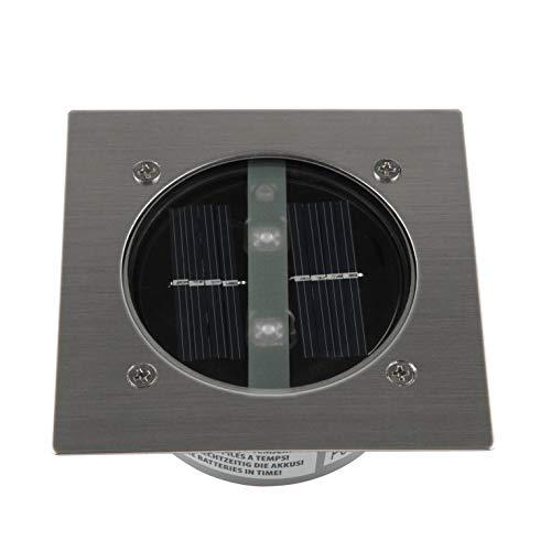 Ranex 5000.198 LED Solar Bodeneinbaustrahler, 4-eckig