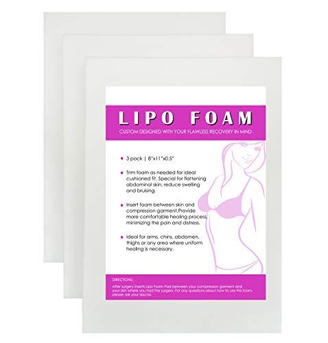 3 Pack Lipo Foam Post-surgical Ab Board Flattening Abdominal...
