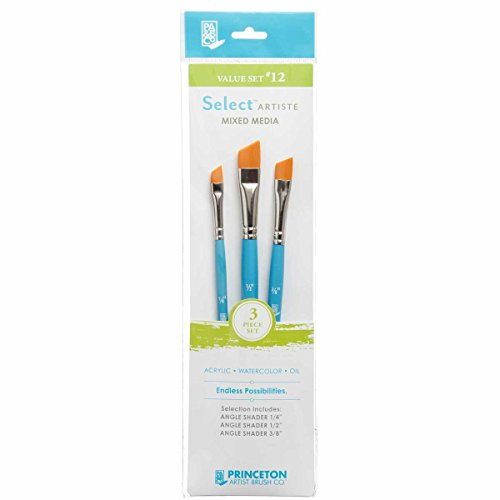 Princeton Select Artiste, Mixed-Media Brushes for Acrylic, Oil, Watercolor Series 3750, 3 Piece Value Set 112