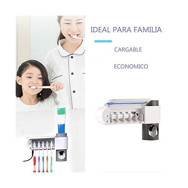 DES 184 Dispensador Automático de Pasta de Dientes Portacepillos de Dientes