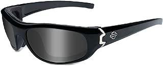 Harley-Davidson Curve Grey Lens w/Gloss Black Frame Sunglasses HDCUR01