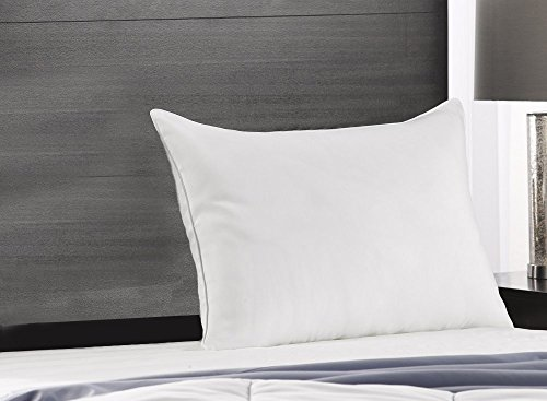 Exquisite Hotel Soft King Size Bed Pillow- Single White Hotel Pillow- Gel Fiber Filled Soft Gel Pillow with Hypoallergenic Classic Cover- Best Pillow for Stomach Sleepers