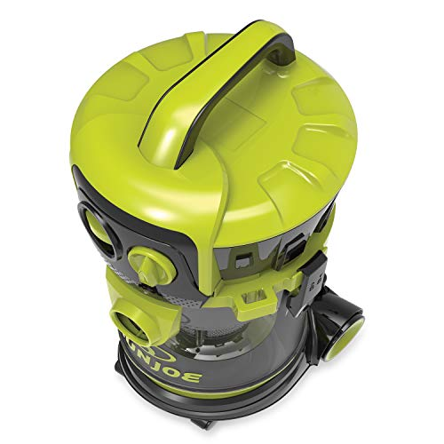 Sun Joe SWD4000 Industrial Motor Wheeled Wet/Dry Vacuum   4 Gal.   3.5 Peak HP   Semi Transparent Tank