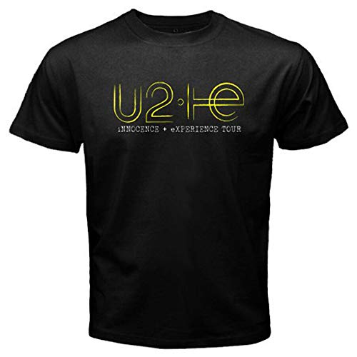 U2 Innocence Experience Tour Rock Band Men's Black T-Shirt Size S to 3XL