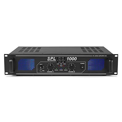 Skytec SPL-1000 Stereo Power Amplifier Home HiFi 19 Inch Rack Mount PA DJ...