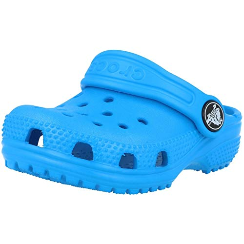 Crocs Classic Clog Kids Roomy fit Zuecos Unisex niños, Azul (Ocean 456), 24/25 EU