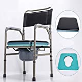 Zhen Lin Klappbare Toilette Hocker Sitz Mit Commode Älteren Toilettenstuhl Tragbaren Closehocker Bett Seite Kommode Für Senioren Behinderte Person Commode Stuhl Medical Toilette Stuhl