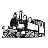 Creative Hollow Out Steam Train Room Silhouette Selbstklebende Transport Wandtattoos Aufkleber Dekor haftet Wandkunst Dekoration Wandbilder für