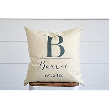 Farmhouse Burlap Pillow Cover   Last Name Decor   Decorative Pillow   Printed Pillow Cover   Throw Pillow Cover   Rustic Cover