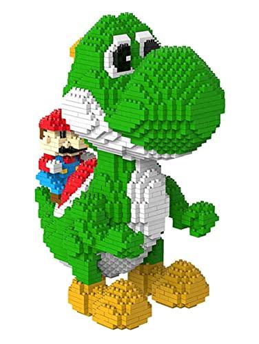 RSVT Super Yoshi Mario 3D Modelo 3D DIY Mini Diamond Blocks Bricks Building Juguete para Niños Regalo,Yoshi