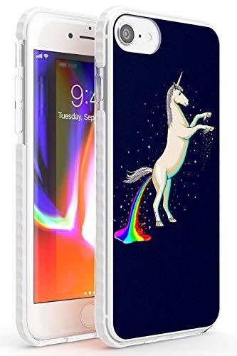 Case Warehouse Einhorn Kacken Regenbogen Schutz Gummi Handyhülle für iPhone 7 Plus, für iPhone 8 Plus stoßfest Stoßstange TPU Magische Regenbogen 9Gag Schön Einhorn