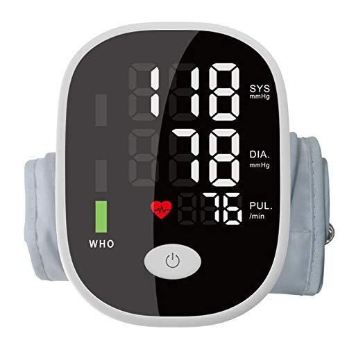 Monitor de frecuencia cardíaca de la presión Arterial, espigmomanómetro automático Mediciones del Latido del corazón para la hipertensión Diagnóstico preciso (Negro)