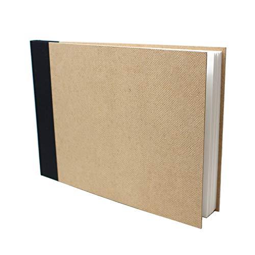 Artway Enviro - Bloc con Encuadernado de Tipo Libro - Papel Cartridge 100% Reciclado - Tapas de aglomerado - 170 gsm - 46 Hojas - 1 x Apaisado A4