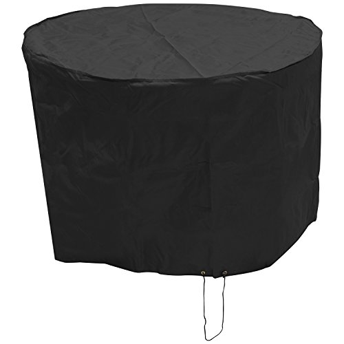 Oxbridge Black Small Round Outdoor Garden Patio Furniture Set Cover 1.42m x 0.96m/4.7ft x 3.2ft 5 YEAR GUARANTEE