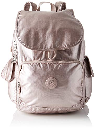 Kipling Damen City Pack Rucksack, Pink (Metallic Rose), 32x37x18.5 centimeters