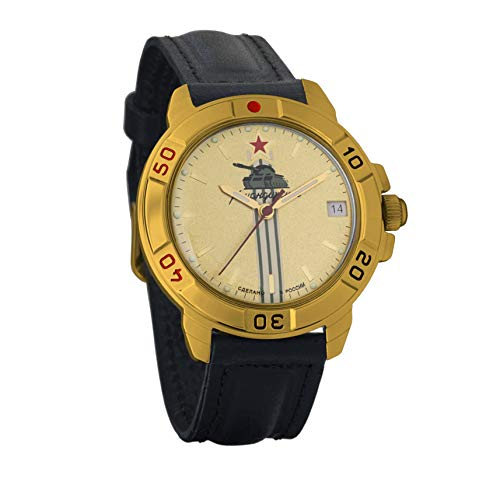 Vostok Komandirskie 2414 Reloj Militar Ruso mecánico de Cuerda Manual // 439072 (Classic)