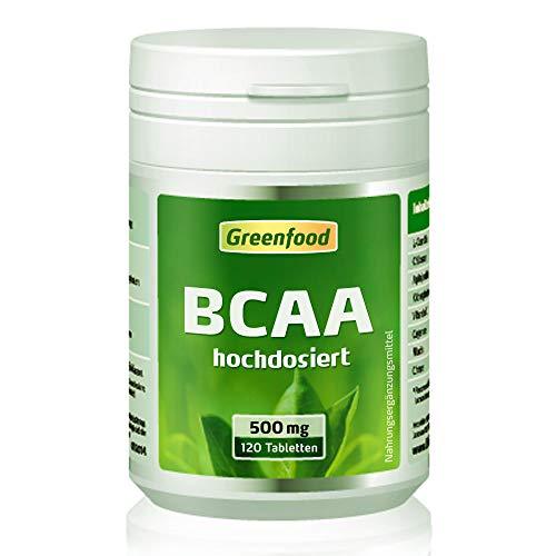 BCAA, 500 mg, hochdosiert, 120 Tabletten, vegan – fördert den Muskelaubau, sichert den Muskelerhalt. OHNE künstliche Zusätze. Ohne Gentechnik.