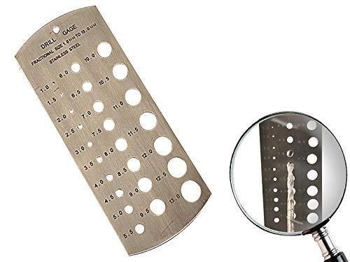 Bohrerlehre 1mm - 13mm metrisch Lochlehre Bohrschablone Messlehre Edelstahl