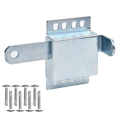 Heavy Duty Inside Deadlock - Galvanized Steel Garage Door Side Lock/Housing Extra Security Lock for Most Garage Door
