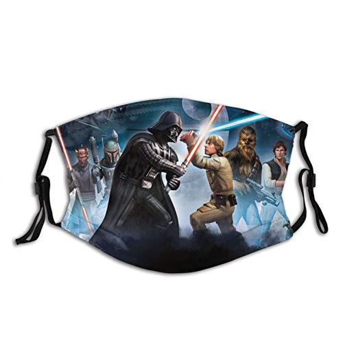 KINGAM Star Wars Máscara de borde negro para adultos, protección facial portátil, bandana, borde elástico, pasamontañas