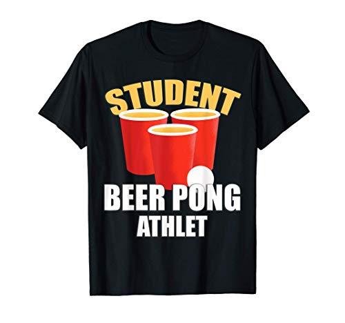 Beer Pong Regeln Sauf Shirt Hobbytrinker Rote Becher T-Shirt