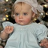 JinYiZhaoMing Reborn Dolls Kit,23 pulgadas, 1000G realista recién nacido bebé niña muñeca enraizada ropa suave vinilo silicona muñeca recién nacido