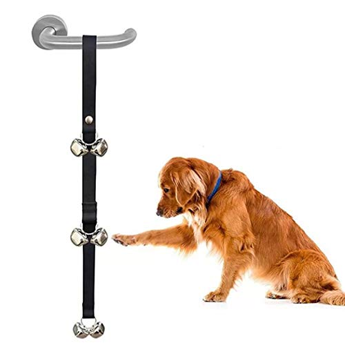 YONGYONG-Pet doorbell Herramientas De Adiestramiento Canino Adiestramiento De Perros para Mascotas Timbre De La Puerta Antideslizante Puerta Suministros Timbres Pelo Dorado Perro Cordón 2.5 * 85 Cm