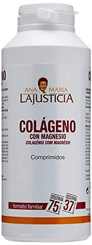 Ana Maria Lajusticia - Colágeno con magnesio – 450 comprimidos articulaciones fuertes y piel tersa. Regenerador de tejidos con colageno hidrolizado tipo 1 y tipo 2. Envase para 75 días de tratamiento.