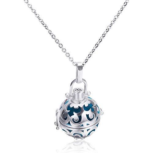 WBBNB Colgante Minimalista Collar de Acero Inoxidable joyería Exquisita para Mujeres niñas Cadena de clavícula Navidad Enviar Caja de Regalo para Hombres Damas