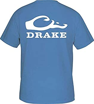 Drake Head Logo Tee S/S Carolina Blue w/White Small