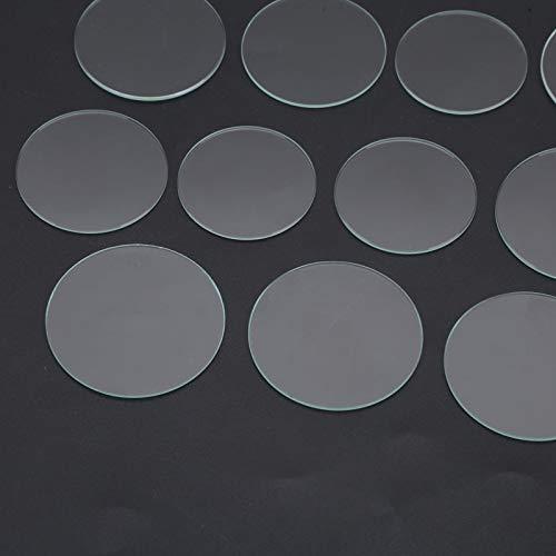 Walfront 21pcs 35-45mm Piezas de Repuesto de Vidrio Reloj Plano Lente de Cristal Vidrio
