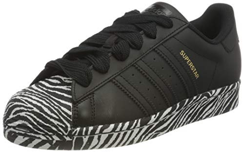 adidas Originals Damen Superstar Sneaker, Core Black/Gold Metallic/Footwear White, 36 EU