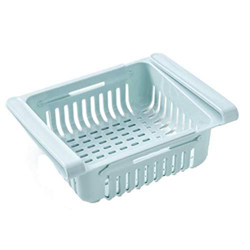 FDNFG Estantería Colgante Cocina Ajustable Refrigerador Almacenamiento de refrigerador Frigorífico Congelador Estante de Estante Pensión Drawer Organizador Placa de Estante Capa (Color : Blue)