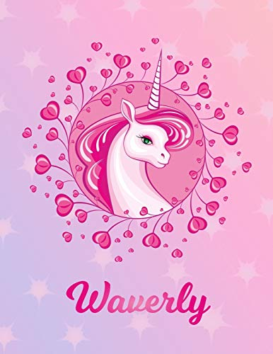 Waverly: Unicorn Sheet Music Note Manuscript Notebook Paper – Magical Horse Personalized Letter W Initial Custom First Name Cover – Musician Composer … Notepad Notation Guide – Compose Write Songs
