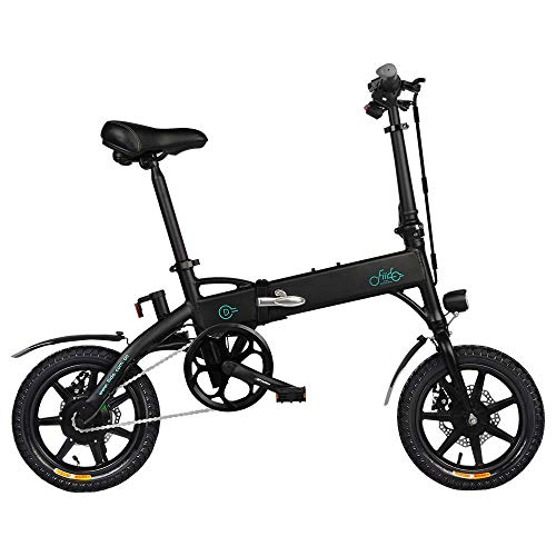 FIIDO D1 Bicicletta Elettrica Pieghevole Unisex Adulto E-Bici 3 modalità di Guida Motore da 250 W Batteria al Litio da 10,4 Ah velocità Massima 25 km/h Pneumatici da 14 Pollici - Nero