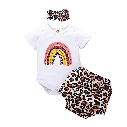 Keepwin Ropa de Bebe Nino de 0 a 6 Meses Verano Conjunto Primera Puesta Bebe Ropita para Recien Nacido Ranitas para Bebe Niño Trajes para Bebes Recien Nacidos Niña Camiseta de Manga Corta Tops