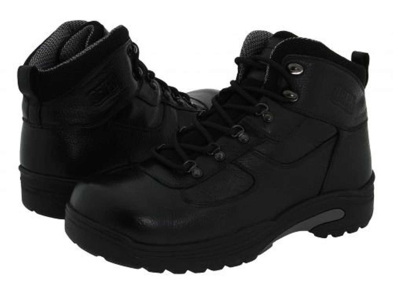Drew(ドリュー) メンズ 男性用 シューズ 靴 ブーツ 安全靴 ワーカーブーツ Rockford Waterproof Boot - Black Tumbled Leather [並行輸入品]