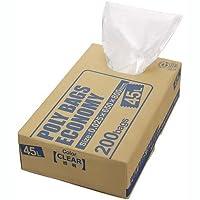 オルディ ポリバッグエコノミー45L透明BOX200枚×4